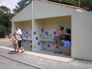 le bloc sanitaire de notre camping 3 étoiles à Saint Jean de Monts