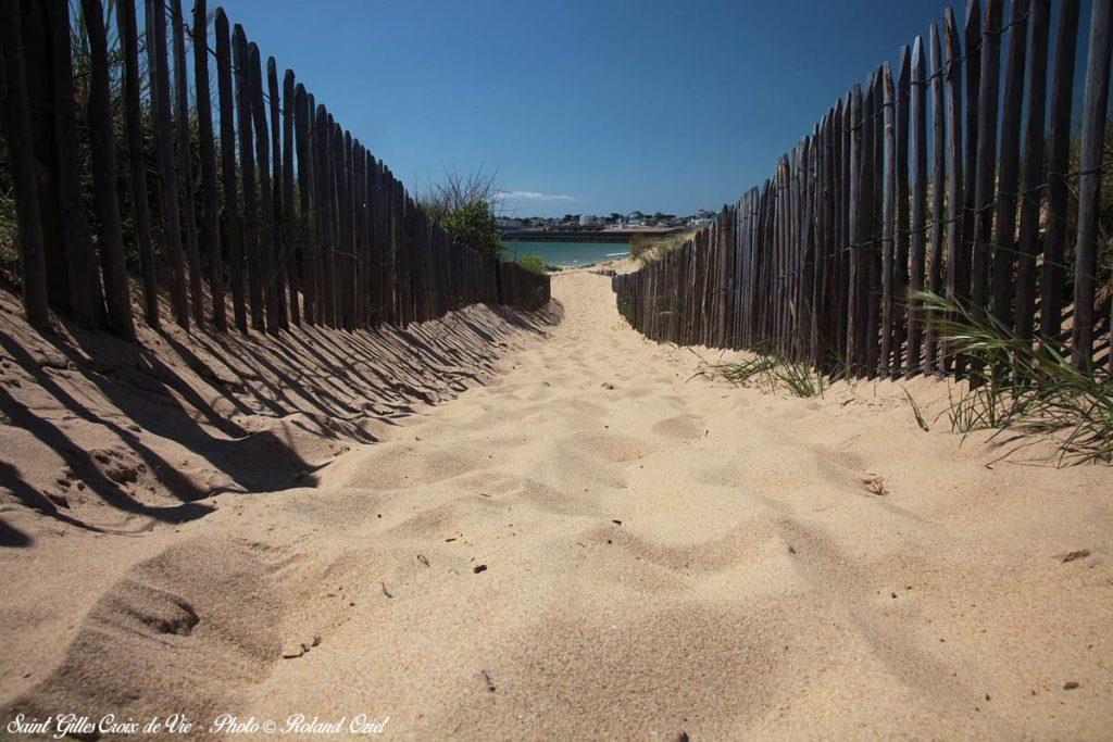 St Gilles Croix de Vie : accès plage