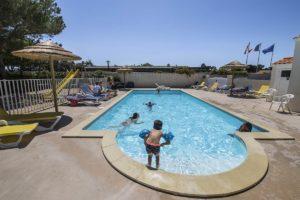 la piscine chauffée du camping
