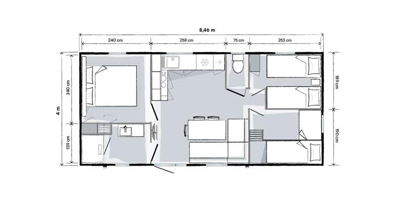 plan mobilhome 3 chambres